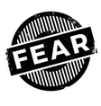 Fear rubber stamp vector image