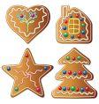 gingerbread cookies vector image
