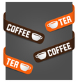 left and right side signs - coffee and tea vector image