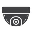 surveillance camera solid icon cctv and security vector image