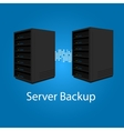 two server backup redundancy mirror for recovery vector image