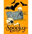 Invitation poster to Spooky Halloween Party vector image vector image
