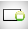 tablet technology icon portfolio business vector image
