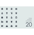 Set of package packaging icons vector image