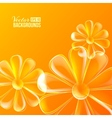 Abstract colorful glass flower vector image vector image