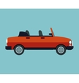 convertible car sport vehicle vector image