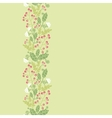Summer berries vertical seamless pattern vector image vector image