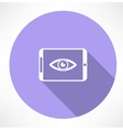 smartphone with Eye icon vector image vector image