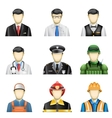male job icons vector image vector image