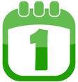 icon 1 calendar vector image