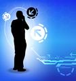 telecommunication concept background design vector image vector image