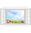 Beautiful summer with flowers vector image