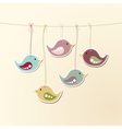 Birds on strings vector image