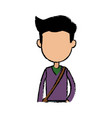 boy cartoon student young character with bag vector image