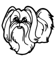 dog coloring book with white background vector image