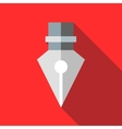 Fountain pen icon in flat style vector image