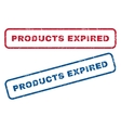 Products Expired Rubber Stamps vector image