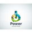 Power button logo template vector image vector image