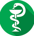 Medical Snake Icon vector image