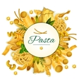 Pasta poster for Italian cuisine vector image vector image