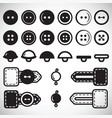set of isolated icons of buttons in flat style vector image