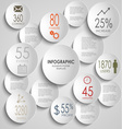 Abstract colored round infographic template vector image
