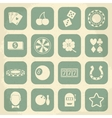 Casino retro icons set vector image