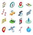 Navigation icons set isometric 3d style vector image