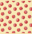 christmas toy red ball pattern vector image
