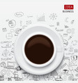 coffee cup and business strategy vector image