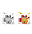 Drum sets vector image