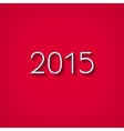 Flat style number 2015 with shadow vector image