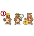 Grizzly Bear Mascot with money vector image