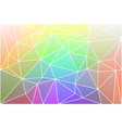 light rainbow geometric background with mesh vector image