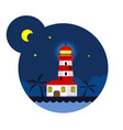 lighthouse in the night vector image