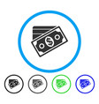 money rounded icon vector image
