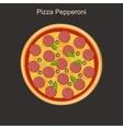 Pizza peppreoni vector image