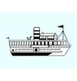 small white retro ship vector image