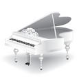 white grand piano vector image
