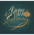 with text Happy Halloween vector image