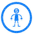bank robot rounded grainy icon vector image