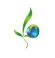 Glass earth - globe vector image