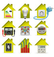 Electricity Home Icons vector image