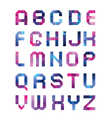 colorful font from triangles vector image