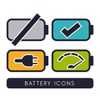Battery energy design vector image