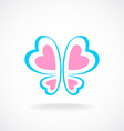Butterfly logo template Soft colors Heart-shaped vector image