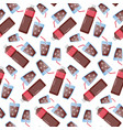 cola seamless pattern vector image