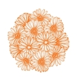 composition with calendula flowers vector image