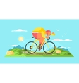 Cyclist sportsman on bike vector image