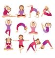 Kids Yoga Poses Child doing vector image